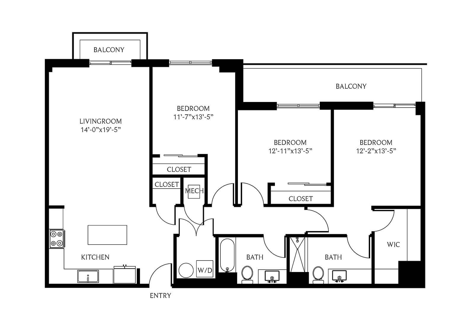 Coral Gables 3 Bedroom Apartment